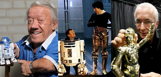 Anthony Daniels and Kenny Baker